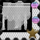 White Deco Sheer – 14 Full Curtain Set Pngs CU4CU