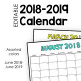 2018-2019 Calendar (Full-Page)