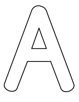 Full Page Alphabet Coloring Sheets