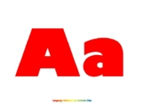Full Page Alphabet Printout (Red)