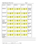 Full Page Behavior Chart with Times