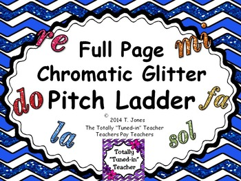 Full Page Chromatic Printable Pitch Ladder