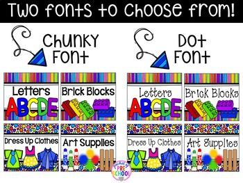 Bright, Rainbow Design Editable Labels