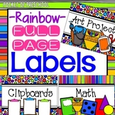 Bright, Rainbow Design Large Crate Labels