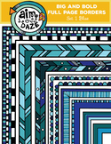 Full Page Doodle Border-Big and Bold Set 1-BLUE