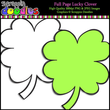 Full Page Lucky Clover **FREEBIE**