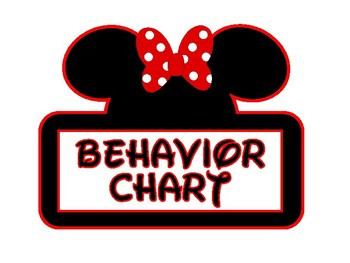 Full Page Mickey and Minnie Themed Behavior Chart