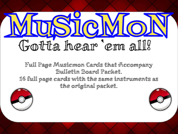 Full Page Musicmon Cards