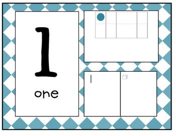 {Full Page} Number Line in Diamond Pattern