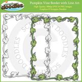 Full Page Pumpkin Vine Border