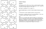 Full Page Puzzle Piece, 10-Piece Puzzle Template