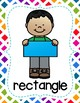 Shape Posters - Colorful Rainbow Theme - Primary Classroom Decor