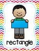Shape Posters - Rainbow Chevron Theme Classroom