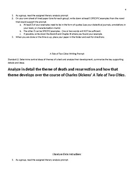 Full Process Literary Analysis Writing Assignment for A Tale of Two Cities