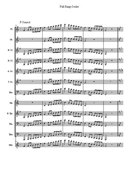 Full-Range Scales for Concert Band