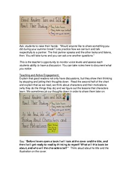 Full Reading Lesson Plan for Summer Wheels by Eve Bunting/TC Format/