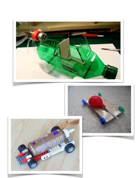 Full STEAM Ahead, Air Powered Vehicle Through Challenge Based Learning
