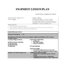 Writer's Workshop Curriculum Full School Year