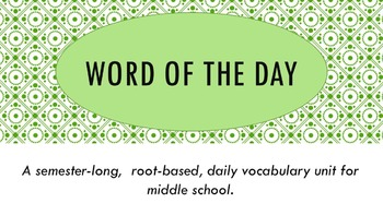 Full Semester EDITABLE Word of the Day Vocabulary Curriculum