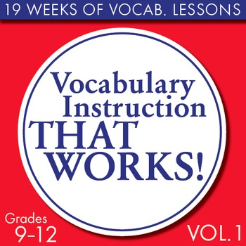 Full Semester Vocabulary Lessons For High School Students Volume 1