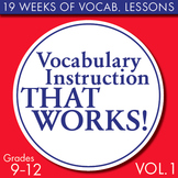 Full Semester Vocabulary Lessons for High School Students – Volume #1