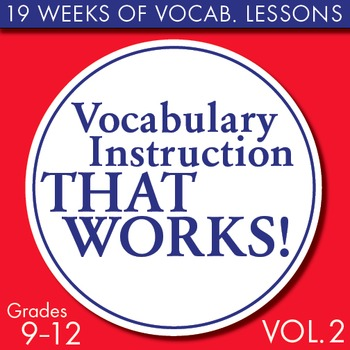 Full Semester Vocabulary Lessons for High School Students – Volume #2