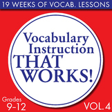 Full Semester Vocabulary Lessons for High School Students – Volume #4