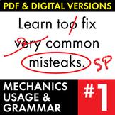 Full Semester of Grammar, MUG Shot Warm-Ups, Proofreading Bell-Ringer Slides