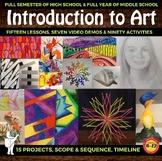 Full Semester of High School or Middle School Art - Elemen