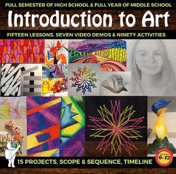 Introduction to Art - High School & Middle School Art Curriculum- Beginning  Art
