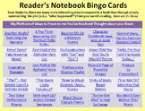 Full Set: Reading Notebook Bingo Cards