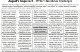Full Set: Writer's Notebook Bingo Cards