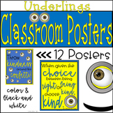 Full Set of 12 Minion Quote Posters: For Your Underling Th