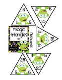 Full Set of Magic Triangles (2-10) for Multiplication Practice