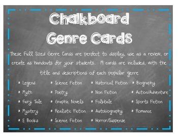 Full Size Genre Cards