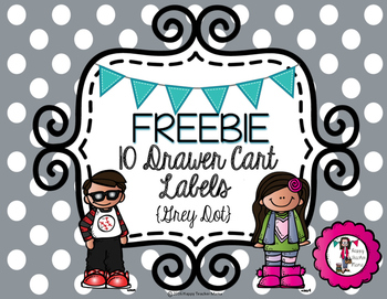 Full-Size Labels for 10 Drawer Cart - Freebie