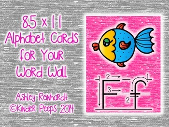 Full-Sized Alphabet Cards for Your Word Wall - Pink Set