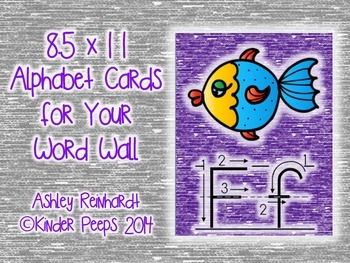 Full-Sized Alphabet Cards for Your Word Wall - Purple Set