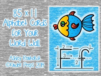 Full-Sized Alphabet Cards for Your Word Wall - Turquoise Set