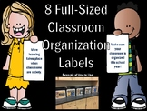 Full-Sized Classroom Organizational Labels