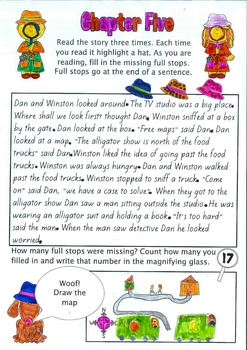 Reading Fluency Story - Full Stops Detective Dan & the Punctuation Pals -No prep