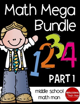 Math Mega Bundle (For Upper Elementary/Middle School Math) PART 1