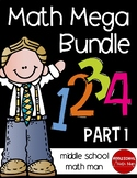 Math Mega Bundle (For Upper Elementary/Middle School Math) PART 1
