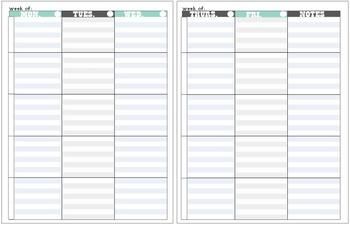 Full Teacher Planbook