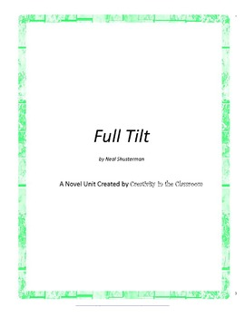 Full Tilt Novel Unit Plus Grammar