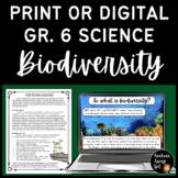 Full Unit: Grade 6 Biodiversity