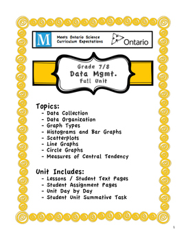 Full Unit - Data Mgmt - Meets BOTH Ontario 7/8 Data Mgmt Expectations
