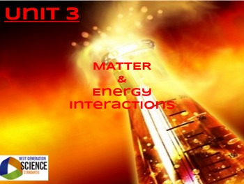 Full Unit of Study--Unit 3: Matter & Interactions [NGSS/STEM]