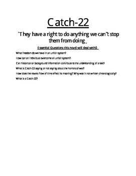 Full Unit on Joseph Heller's Catch-22