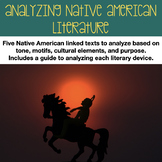 Full Week Lesson for Early Native American Literature Guid